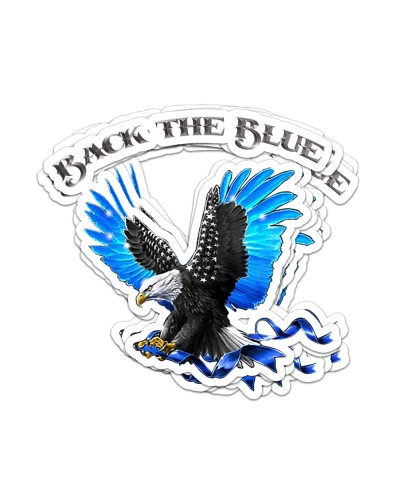 Back The Blue Bird Sticker