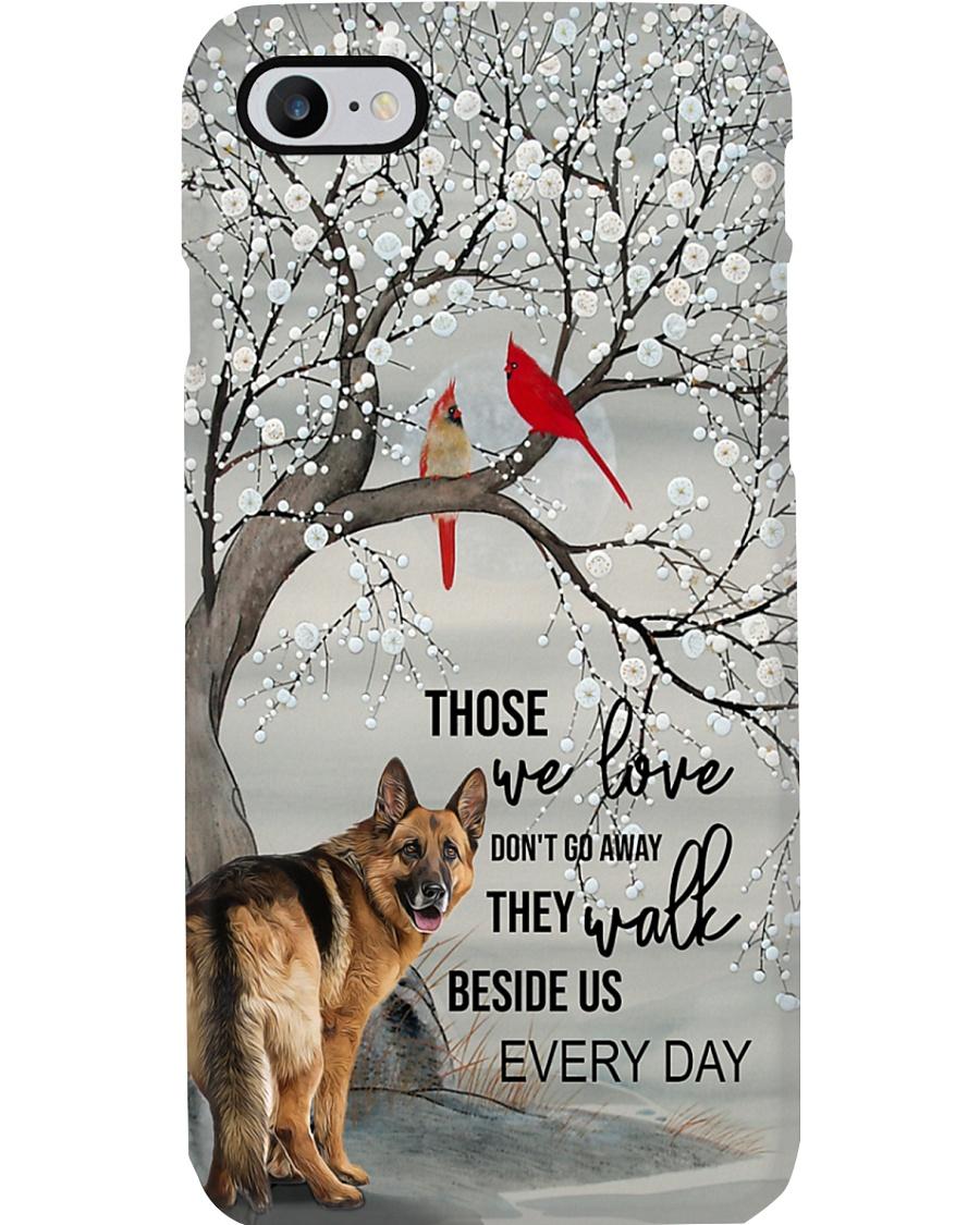 German Shepherd - They Walk Beside Us Everyday  Phone Case