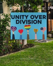 LGBT - Unity Over Division 24x18 Yard Sign aos-yard-sign-24x18-lifestyle-front-06