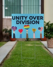 LGBT - Unity Over Division 24x18 Yard Sign aos-yard-sign-24x18-lifestyle-front-14