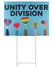 LGBT - Unity Over Division 24x18 Yard Sign back