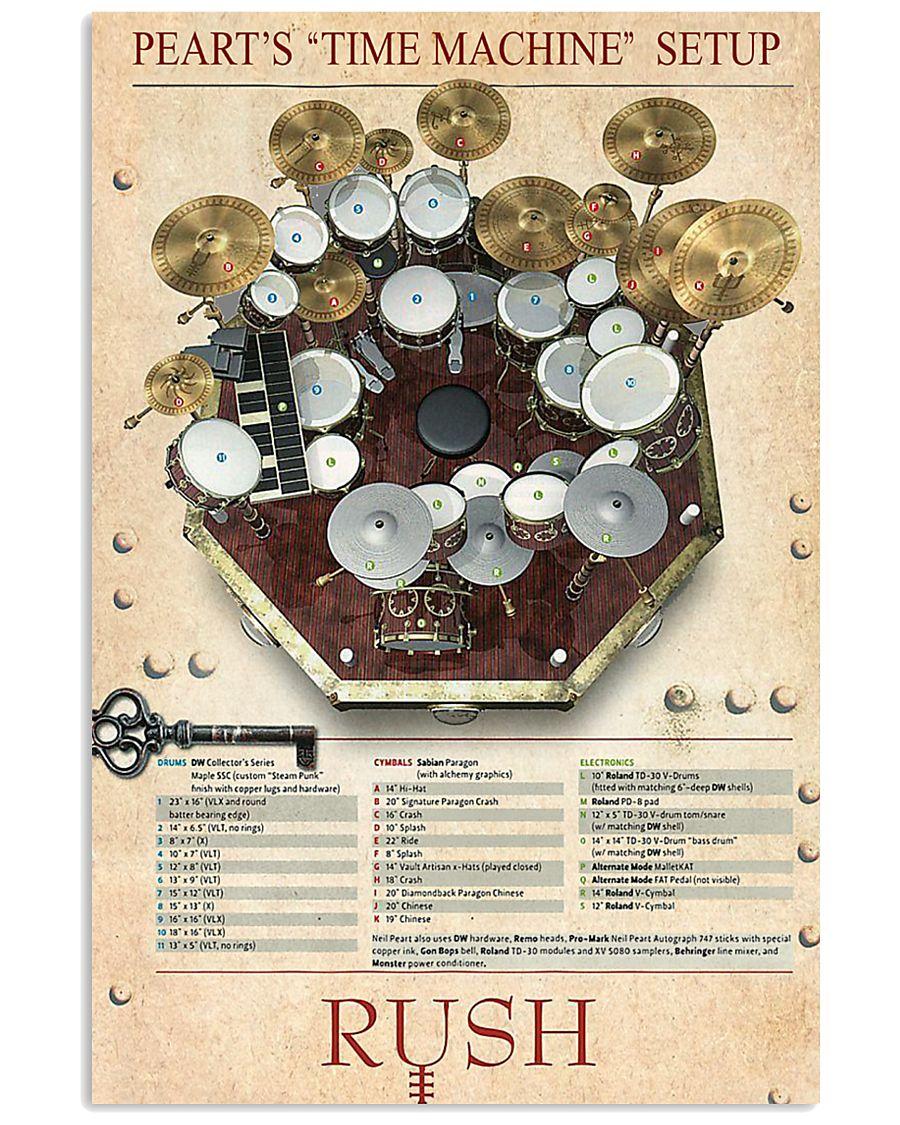 Drum Set Time Machine 11x17 Poster