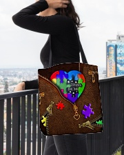 Autism - Different Not Less All-over Tote aos-all-over-tote-lifestyle-front-05