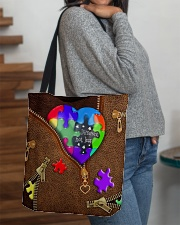 Autism - Different Not Less All-over Tote aos-all-over-tote-lifestyle-front-09