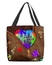 Autism - Different Not Less All-over Tote back