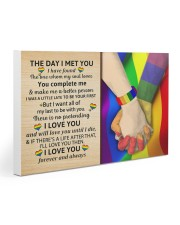 LGBT - The Day I Met You Poster 30x20 Gallery Wrapped Canvas Prints thumbnail
