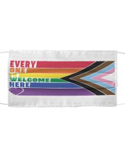 LGBT - Everyone Is Welcome Here Yard Sign Cloth face mask thumbnail