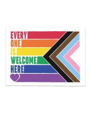 LGBT - Everyone Is Welcome Here Yard Sign Sticker - Single (Horizontal) thumbnail