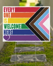 LGBT - Everyone Is Welcome Here Yard Sign 24x18 Yard Sign aos-yard-sign-24x18-lifestyle-front-07