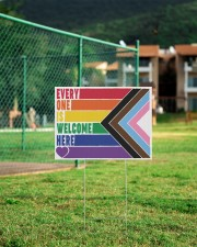 LGBT - Everyone Is Welcome Here Yard Sign 24x18 Yard Sign aos-yard-sign-24x18-lifestyle-front-21