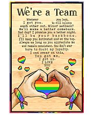 LGBT - We're A Team Poster 11x17 Poster front