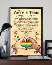 LGBT - We're A Team Poster 11x17 Poster lifestyle-poster-2