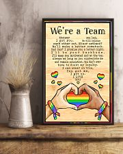 LGBT - We're A Team Poster 11x17 Poster lifestyle-poster-3