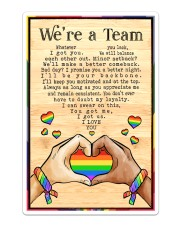 LGBT - We're A Team Poster Sticker tile