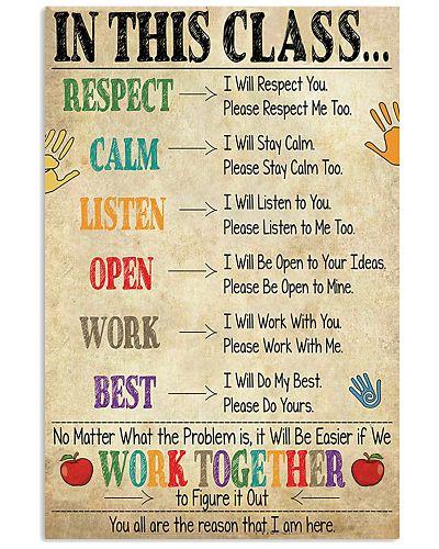 Teacher - In This Class Poster