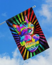 "Cat - Love Is Love Flag 11.5""x17.5"" Garden Flag aos-garden-flag-11-5-x-17-5-lifestyle-front-16"