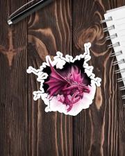 Sticker - Breast Cancer - Crack Dragon Sticker - Single (Vertical) aos-sticker-single-vertical-lifestyle-front-05