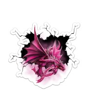 Sticker - Breast Cancer - Crack Dragon Sticker - Single (Vertical) front