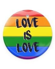 LGBT - Love Is Love Ornament Circle Ornament (Porcelain) tile