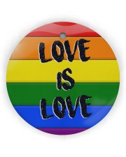 LGBT - Love Is Love Ornament Circle Ornament (Wood tile