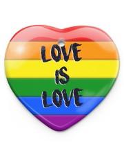 LGBT - Love Is Love Ornament Heart ornament - single (porcelain) front
