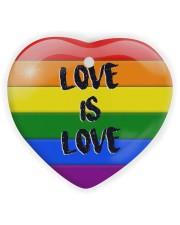 LGBT - Love Is Love Ornament Heart Ornament (Wood) tile