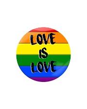 LGBT - Love Is Love Ornament Circle Magnet tile