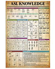 American Sign Language Knowledge Poster 11x17 Poster front