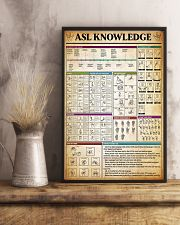 American Sign Language Knowledge Poster 11x17 Poster lifestyle-poster-3