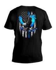 Diabetes - Eagle And Rose 2 Sides V-Neck T-Shirt tile