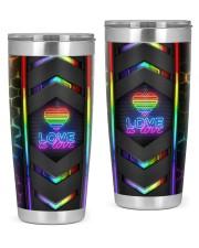 Lgbt Love Is Love Neon Tumbler 20oz Tumbler front