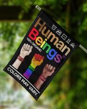"LGBT - Human Beings Flag 11.5""x17.5"" Garden Flag aos-garden-flag-11-5-x-17-5-lifestyle-front-15"