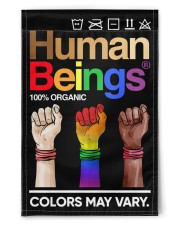 "LGBT - Human Beings Flag 11.5""x17.5"" Garden Flag front"