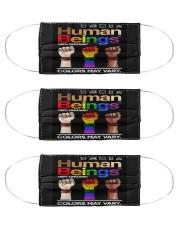 LGBT - Human Beings Flag Cloth Face Mask - 3 Pack thumbnail