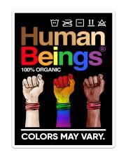 LGBT - Human Beings Flag Sticker - Single (Vertical) thumbnail