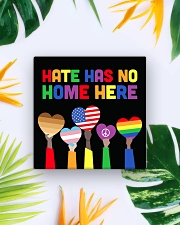 LGBT - Hate - No Home - Magnet custom Square Magnet aos-magnets-square-front-lifestyle-7