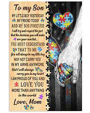 Autism To My Son My Little Boy 11x17 Poster front