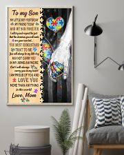 Autism To My Son My Little Boy 11x17 Poster lifestyle-poster-1