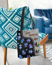 Autism Accept Understand Love Tote Bag All-over Tote aos-all-over-tote-lifestyle-front-01