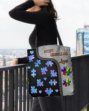 Autism Accept Understand Love Tote Bag All-over Tote aos-all-over-tote-lifestyle-front-05