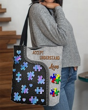 Autism Accept Understand Love Tote Bag All-over Tote aos-all-over-tote-lifestyle-front-09