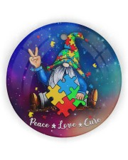 Autism - Gnome Ornament Circle ornament - single (wood) thumbnail