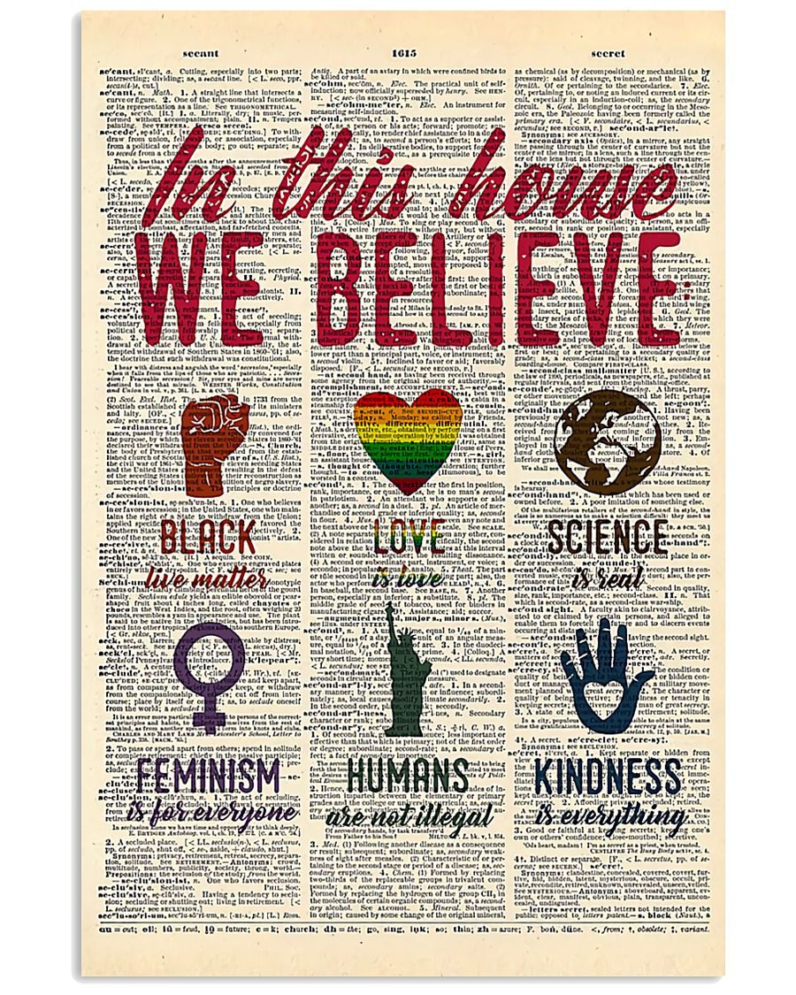 LGBT In This House We Believe  11x17 Poster