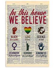 LGBT In This House We Believe  11x17 Poster front