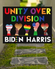 LGBT - Unity Over Division Ys 24x18 Yard Sign aos-yard-sign-24x18-lifestyle-front-07
