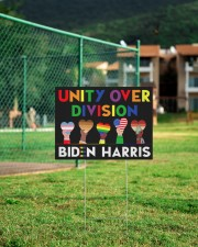 LGBT - Unity Over Division Ys 24x18 Yard Sign aos-yard-sign-24x18-lifestyle-front-21