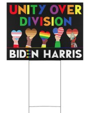 LGBT - Unity Over Division Ys 24x18 Yard Sign back