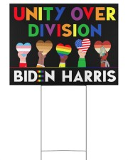 LGBT - Unity Over Division Ys 24x18 Yard Sign front