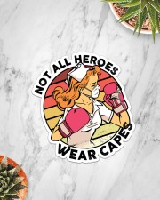 Sticker- Nurse - Not All Heroes Wear Capes Sticker - Single (Vertical) aos-sticker-single-vertical-lifestyle-front-06