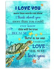 Turtle I love You Poster 11x17 Poster front